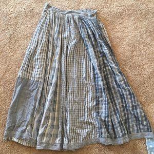 Vintage plaid midi skirt